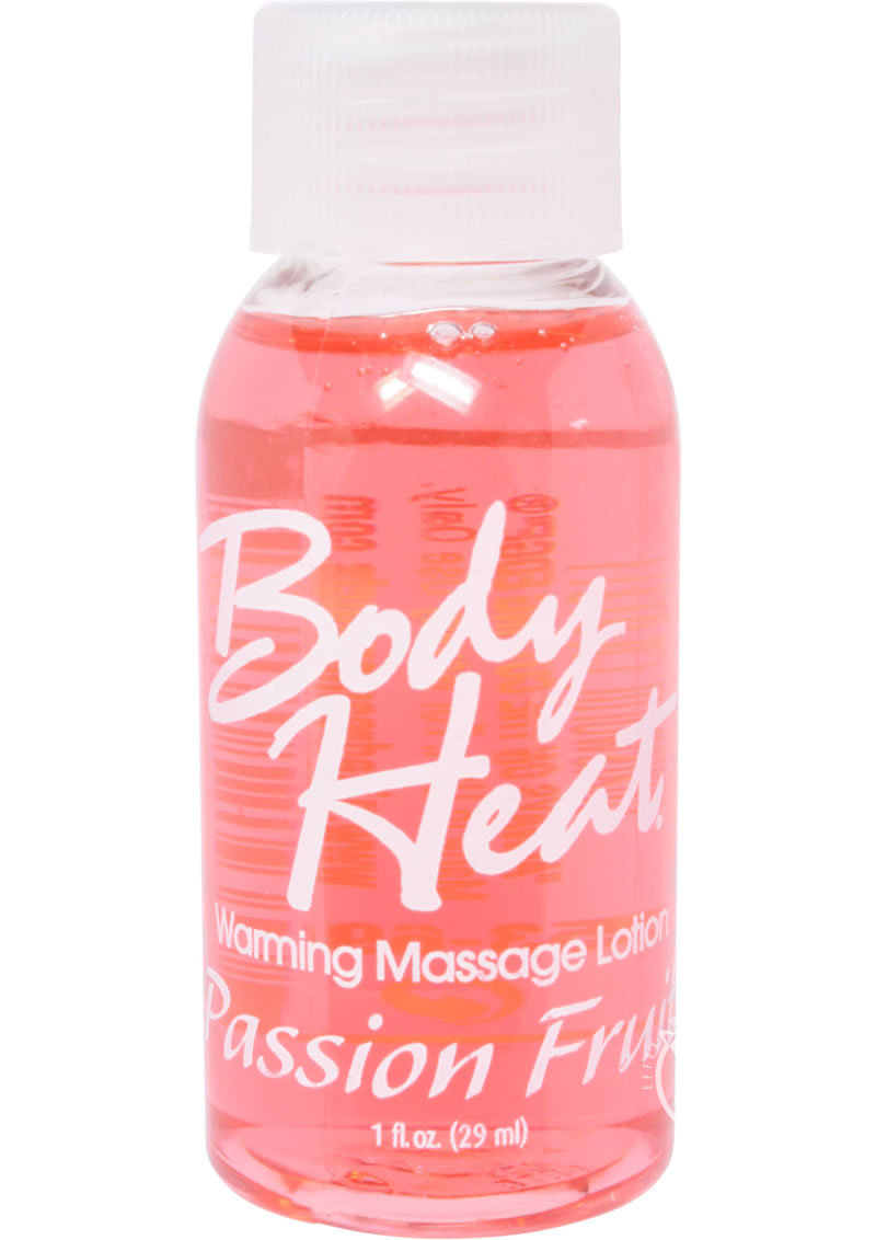 Body Heat Edible Warming Massage Lotion Passion Fruit 1 Ounce